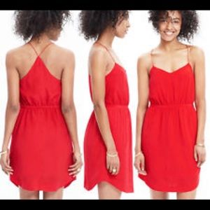 Madewell starview silk cami dress